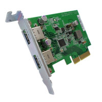 QNAP DUAL-PORT USB 3.1 TYPE-A  GEN 2 PCIe CARD, FOR QTS 4.3 AND ABOVE, CABLES NOT INCLUDED